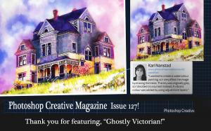 Photoshop Creative Magazine Features Ghostly Victorian, Digital Painting By Kari Nanstad