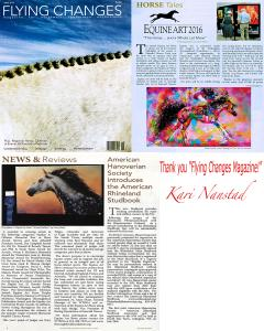 Kari Nanstad Receives Feature In Flying Changes Magazine